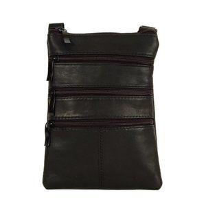 ⭐SALE⭐Genuine Leather Crossbody Purse - Black